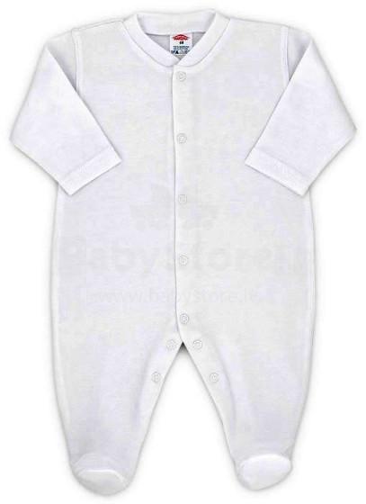 Makoma Art.0231 White Zīdaiņu kokvilnas kombinezons