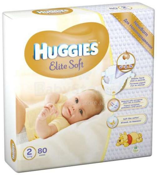 Huggies Newborn Elite Soft Art.041564920  autiņbiksītes jaundzimušajiem 4-7kg, 80gb