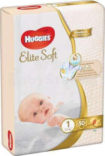 Huggies Elite Soft Newborn Art.041564883 autiņbiksītes jaundzimušajiem 2-5kg 50gb