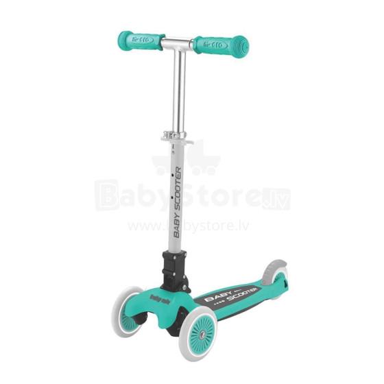 BabyMix Scooter Art.CMC-006 Mint  Bērnu trīsriteņu skrejritenis