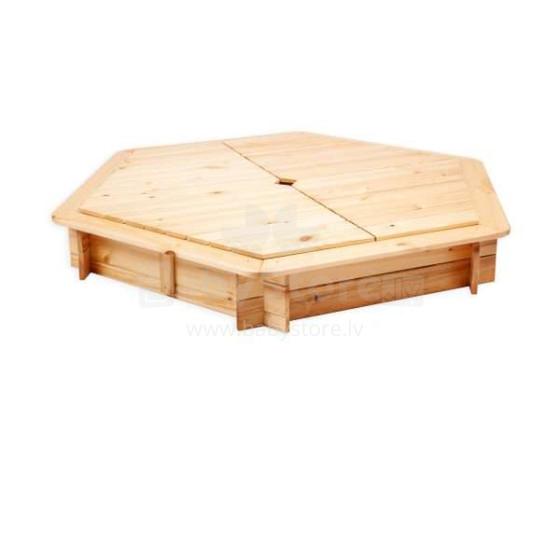 Folkland Art.114244 Smilšu kaste  no dabīgas priedes ar noņemamu vāku