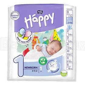 Happy Newborn Bērnu autiņbiksītes 1 izmērs no 2-5kg, 1gab.