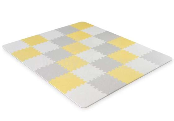 "KinderKraft'20 grindų kilimėlis Luno Art.KKMLUNOYEL0000 ""Yellow Puzzle"" grindų kilimėlis vaikams"
