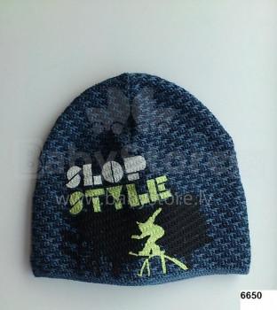 LENNE '14 - Adīta cepurīte zēniem Slop art.13394 (54-56 cm) krāsa 6650