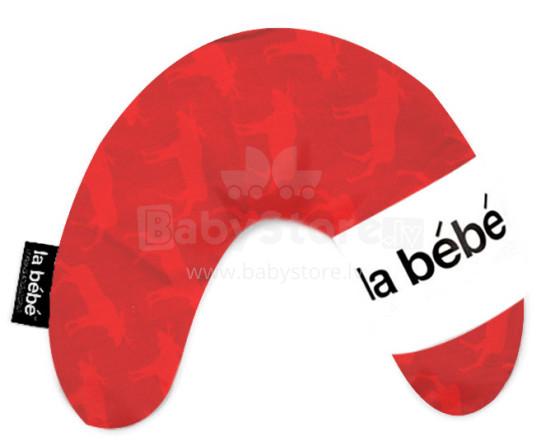 La Bebe™ Mimi Nursing Cotton Pillow Art.23998 Elk Red Подковка для сна, кормления малыша 19x46cm