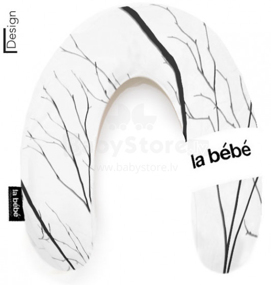 La Bebe™ Rich Cotton Nursing Maternity Pillow Art.85506 Black Branch pakaviņš mazuļa barošana, gulēšanai, pakaviņš grūtniecēm 30x175 cm