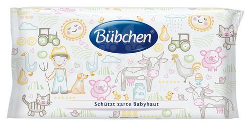 Bubchen Sensitive Art. TB77 mitrās salvetes 56 gab.