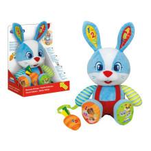 Clementoni Talking Rabbit Oscar Art.50609 Interaktīvā rotaļlieta Gudrais Zaķis (  LV/EST/RU/LT) (analogs Fisher Price Gudrais Kucēns)