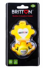 Britton Princess Soother&Soother Cord Art.B1509 Silikona knupis ar nogriezumu ar turētāju