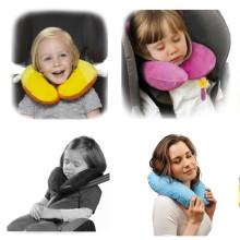 La Bebe™ Mimi Travel Cotton U Neck Pillow Art.3325 Small Dots Atbalsta pakaviņš spilventiņš 19x46cm ceļojumiem